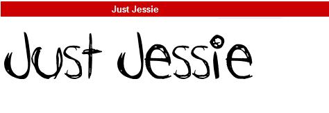 字型:Just Jessie