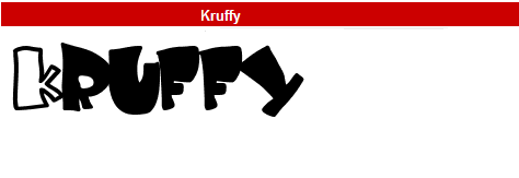 字型:Kruffy