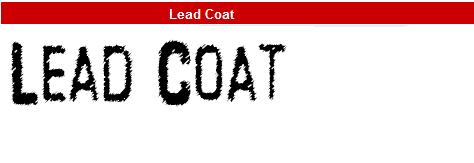 字型:Lead Coat
