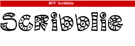 字型:MTF Scribblie