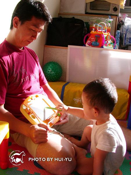 【6月29日星期天】早晨與駿爸爸一起畫畫