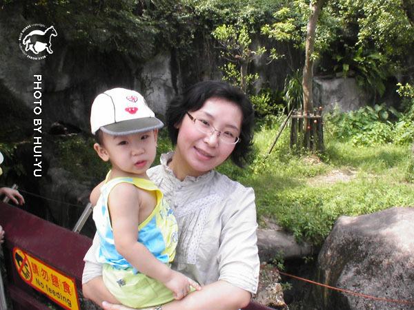 與台灣黑熊合照