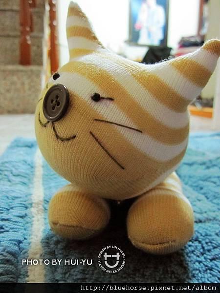 手作-襪子娃娃No16「虎斑貓」1.jpg