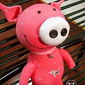 手作-襪子娃娃No19「粉紅豬」2.jpg