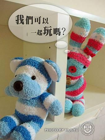 手作-襪子娃娃No21「小美與呆呆」1.jpg