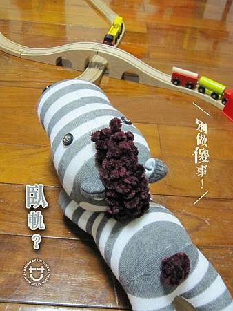 手作-襪子娃娃No22「捲毛斑馬」3.jpg