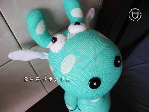 手作-襪子娃娃No46「小綠點點牛」2.jpg
