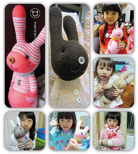 手作-襪子娃娃No56~62「兔子們」
