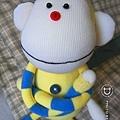 手作-襪子娃娃No64「樂角猴」2