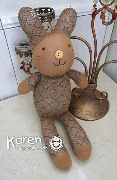 手作-襪子娃娃No69「氣質兔」