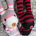 手作-襪子娃娃No77「黑酷兔」
