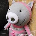 手作-襪子娃娃「氣質豬」