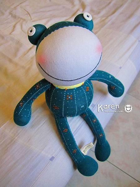 襪子娃娃-默綠蛙