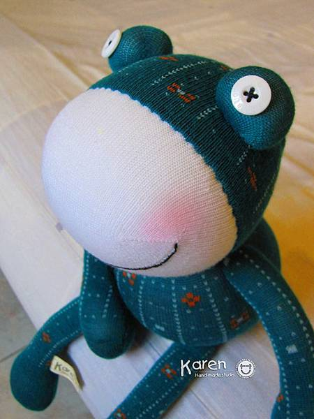襪子娃娃-默綠蛙2