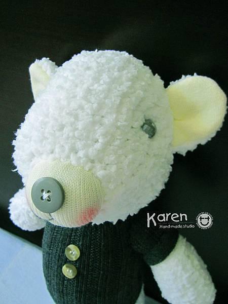 襪子娃娃-灰衣白熊