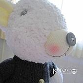 襪子娃娃-灰衣白熊2