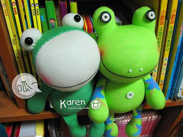 襪子娃娃-鮮綠蛙、星星蛙