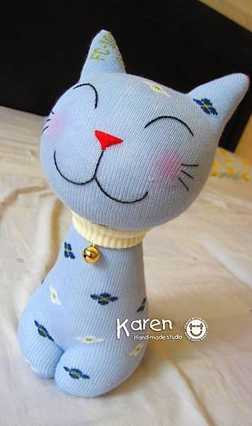 襪子娃娃-藍色笑咪咪
