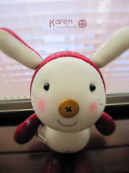 襪子娃娃-紅帽兔