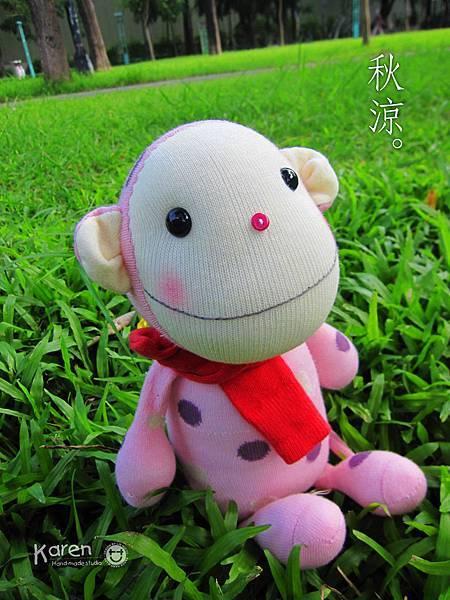 襪子娃娃-粉紅點點兔