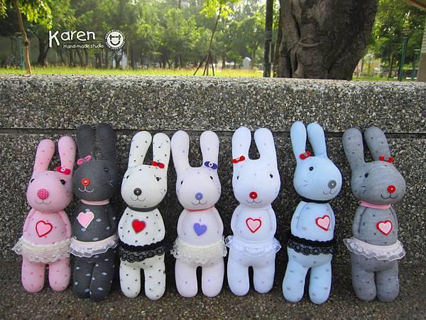襪子娃娃-愛心兔