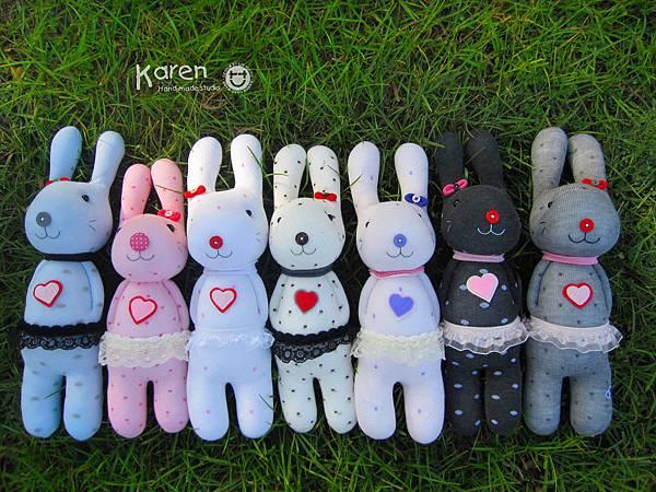 襪子娃娃-愛心兔3