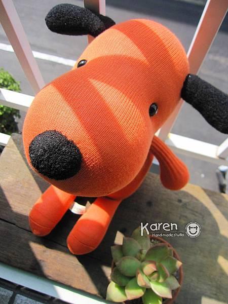 襪子娃娃-橘子狗狗