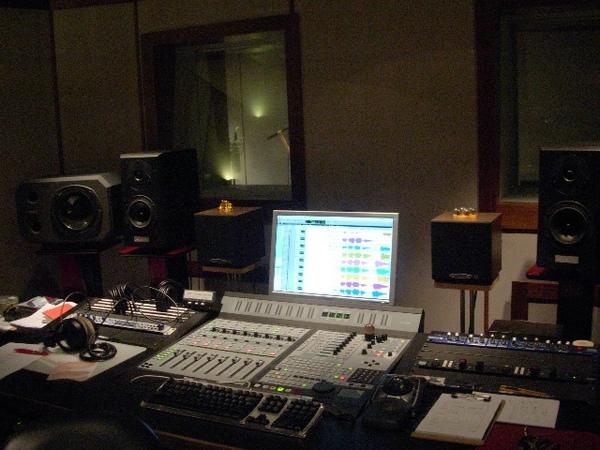 錄音室一景