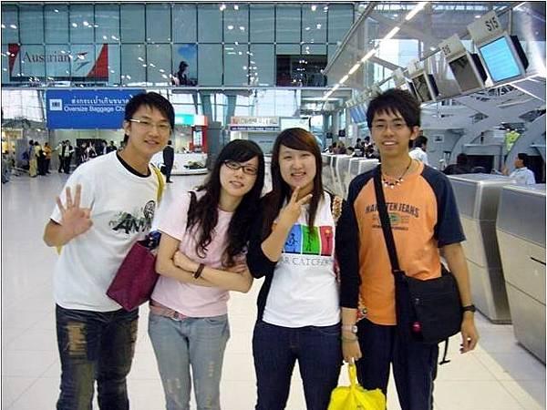回國前於機場