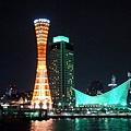 神戶港夜景:神戶塔與海遊館
