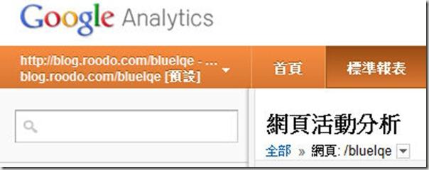網頁活動分析 Google Analytics