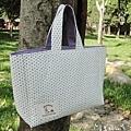 NO.36-夏日悠閒手提包-點點紫-1
