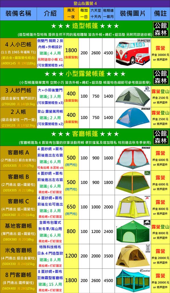 露營用品4