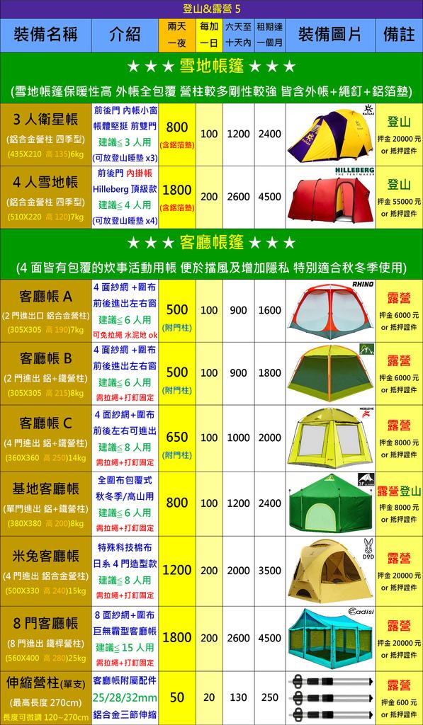 露營用品5