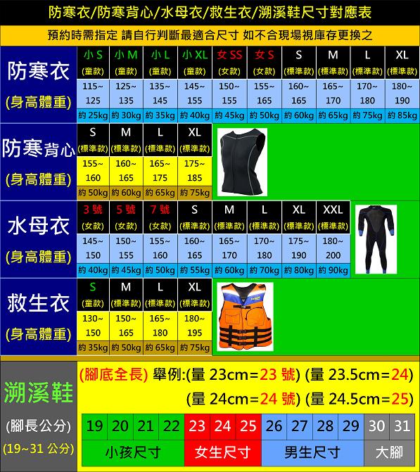 尺寸表(溯溪).tif