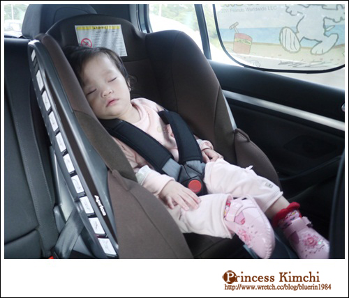 玩到太開心,一上車就睡著了