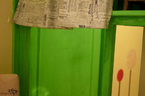 店內以鮮草綠色為主調