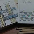 緞帶和城市-上色作品