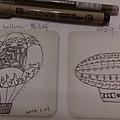 熱氣球和飛船