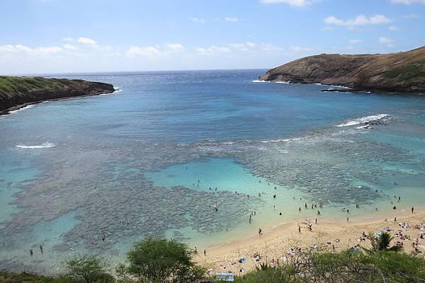 04恐龍灣淺水處的珊瑚礁群