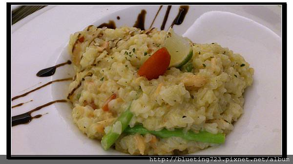 新竹竹北《斑馬 ZEBRA》奶油蘆筍鮭魚燉飯