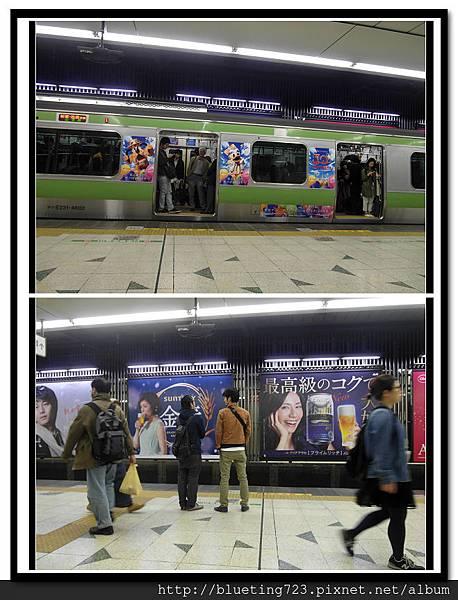 東京《澀谷站》迪士尼列車.jpg