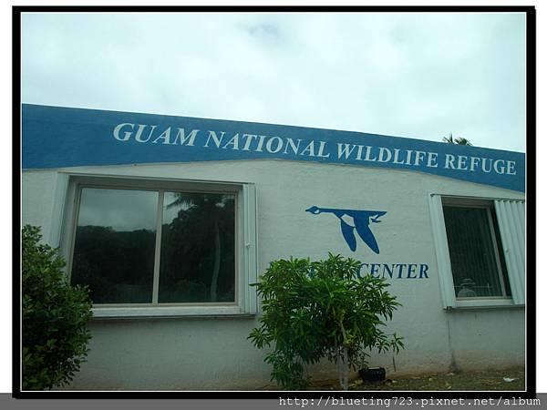 美國關島《瑞提迪恩岬Ritidian Point》藍底白字招牌建築.jpg