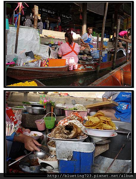《丹嫩莎朵水上市場Damnoen Saduak》海鮮米粉湯船家.jpg