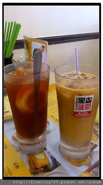新竹金山街《元朗茶餐廳》凍檸茶絲襪奶茶.jpg