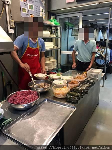 越南‧河內《Bún Bò Nam Bộ Bách Phương 牛肉拌米線》2.jpg
