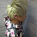 台北推薦染髮 星空色 乾燥花 白金奶茶搭上星空藍 西門町推薦染髮
