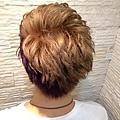台北推薦染髮 星空色 玩童色 亞麻色搭上墨綠漸層紫莓 西門町推薦染髮