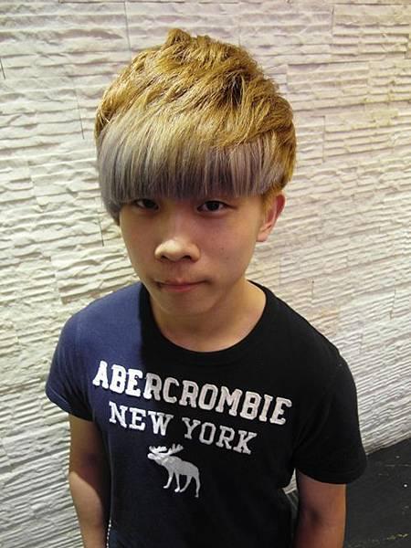 台北推薦染髮 星空色 玩童色 亞麻色搭上銀白色 西門町推薦染髮