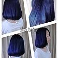 台北推薦染髮  低調寶藍色   西門町推薦染髮